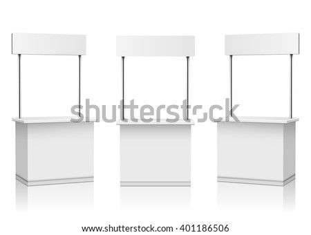 Blank Promotion Stands on a white background - stock vector