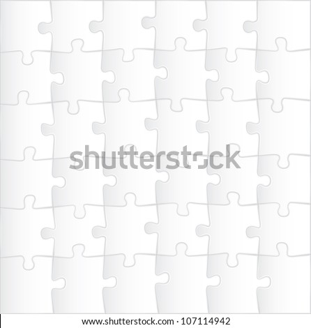blank puzzle template background - illustration - stock vector