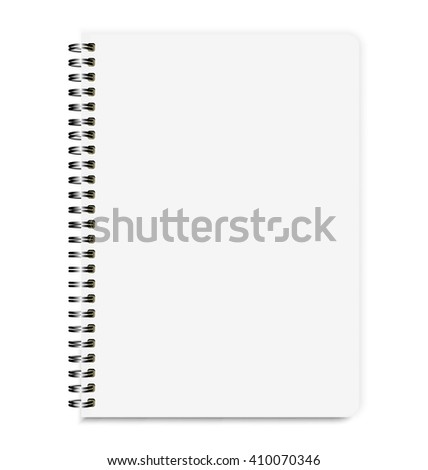 Blank Realistic Notebook Size A4 Isolated On White Background - stock vector