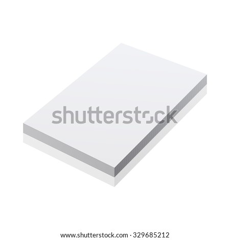 blank realistic notepad notebook isolated on white vector art - stock vector