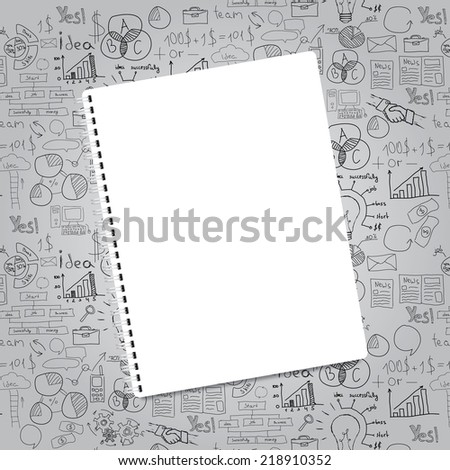blank realistic spiral notepad notebook - stock vector