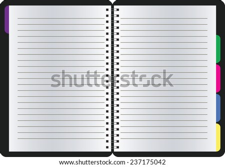 blank realistic spiral notepad notebook isolated  - stock vector
