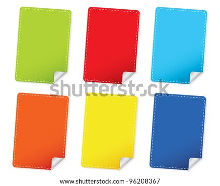 Blank Rectangle Stickers