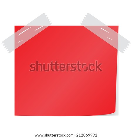 blank red notice papers  vector