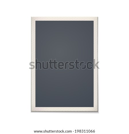 Blank retro photo frame. Vintage. Vector illustration - stock vector
