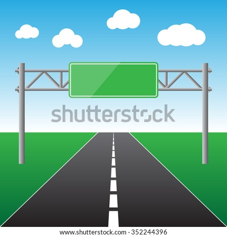 Blank road sign isolated vector illustration - stock vector