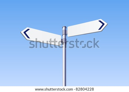 Blank road sign isometric - stock vector