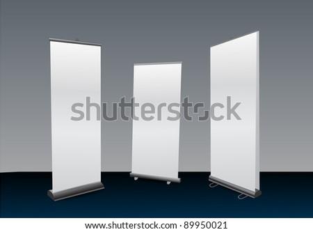 Blank Roll Ups Set - stock vector
