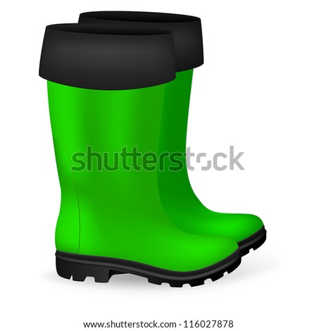Blank Safety Rubber Boots Template Stock Vector 116027878 - Shutterstock