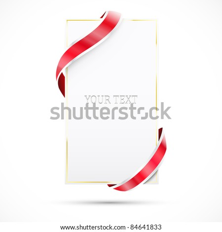 Blank sale tag with gold frame. Vector illustration - stock vector