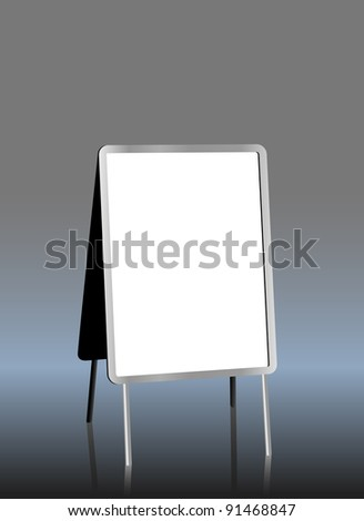 blank sandwich board, free copy space, vector illustration - stock vector