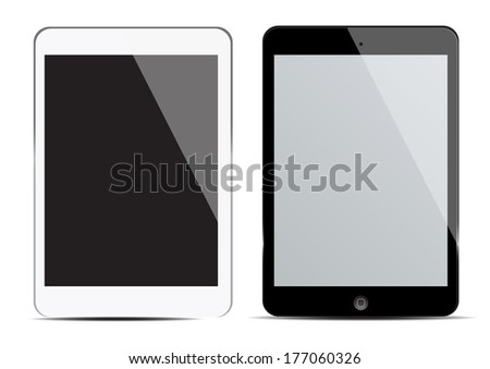 blank screen tablet - stock vector
