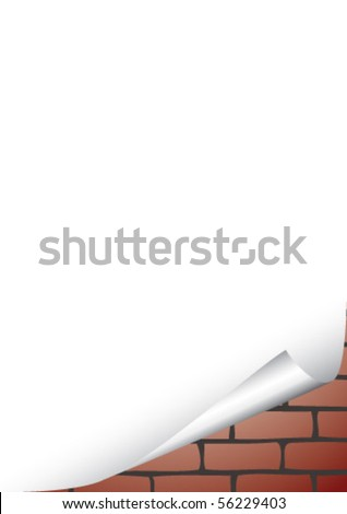 blank sheet - stock vector