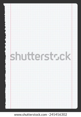 blank sheet of paper - stock vector