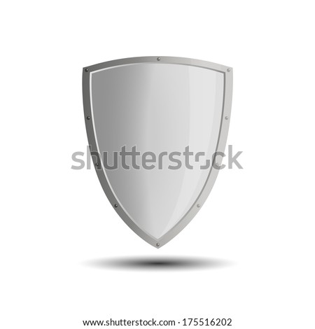 Blank shield business protection emblem isolated illustration