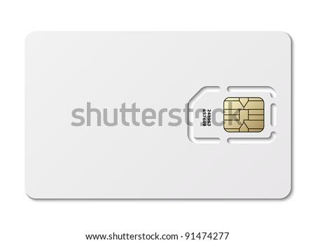 Blank sim card. Vector - stock vector