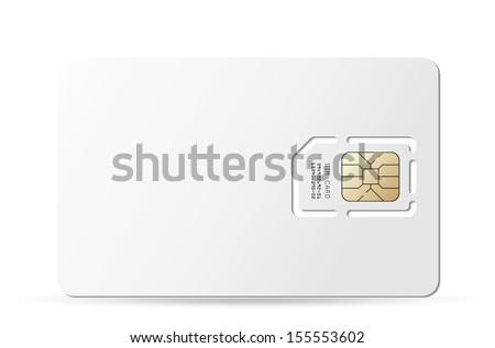 Blank sim card. Vector EPS-10 - stock vector