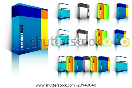 Blank software box - stock vector