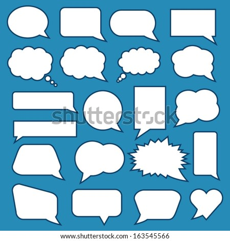 Blank Speech Bubbles - stock vector