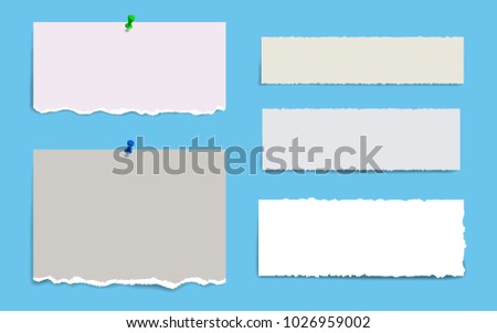 Blank Squared Notepad Pages Tape Note Stock Vector HD (Royalty Free ...