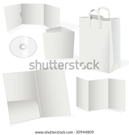BLANK STATIONERY AND CORPORATE ISOLATED MOCK UP. Vector illustration file.