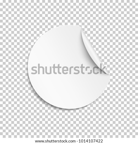 Blank Sticker Empty Promotional Label White Stock Vector 1014107422 ...