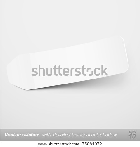Blank sticker template with detailed shadow. Vector - stock vector