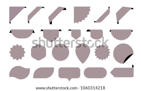 Blank Stickers Icons Shop Tags Labels Stock Vector 1060314218 ...