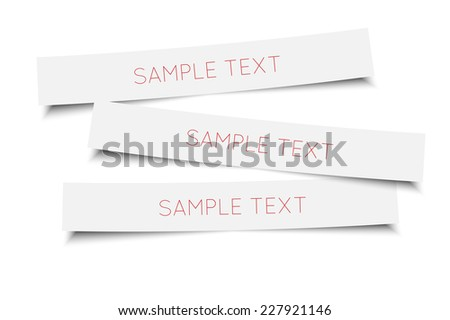 Blank stickers template with detailed shadow. Vector eps10 - stock vector