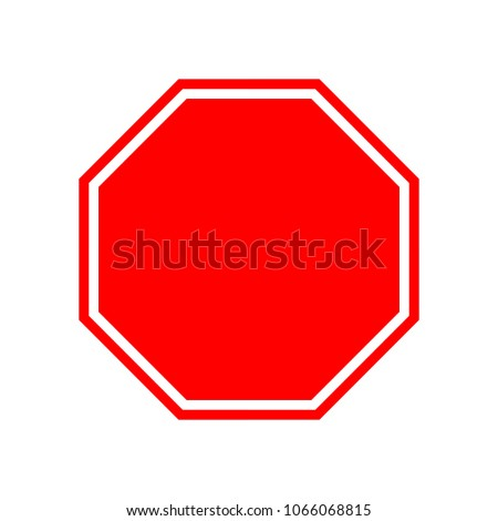 blank stop sign vector stop sign stock vector 1066068815 shutterstock rh shutterstock com free vector stop sign download free vector stop sign download