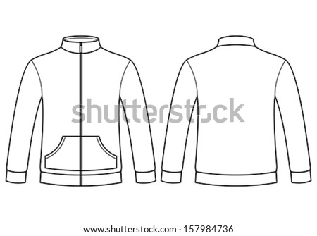 Blank sweatshirt template isolated on white background - stock vector