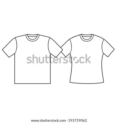 Blank t-shirt template.  - stock vector
