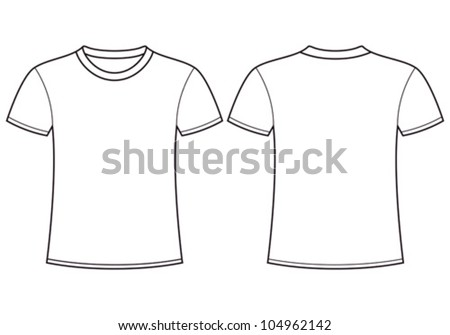 Blank t-shirt template. Front and back - stock vector