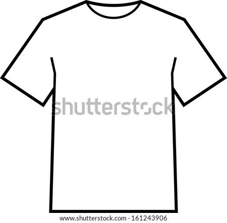 Blank t-shirt template vector - stock vector