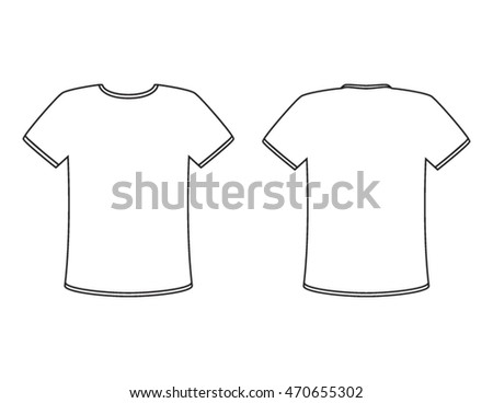 Men round v neck t shirt stock vector 296509565 shutterstock for Blank t shirt design template