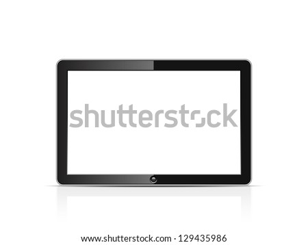 Blank tablet - stock vector