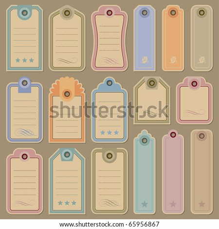 blank tags set - stock vector