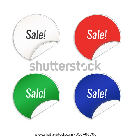 blank tags template set isolated on stock vector 318486908