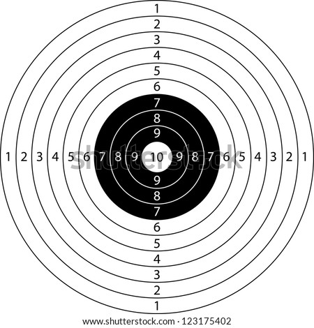blank target sport for shooting competition - stock vector