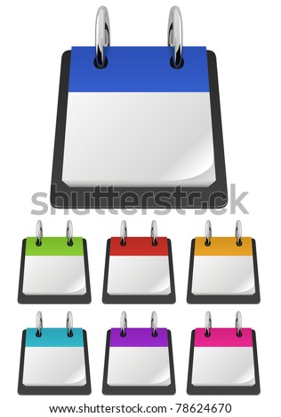 Blank Tearoff Calendar Template Variety Colors Stock Vector HD ...