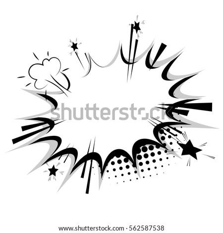 Blank Template Comic Text Speech Bubble Stock Vector 562587538 ...