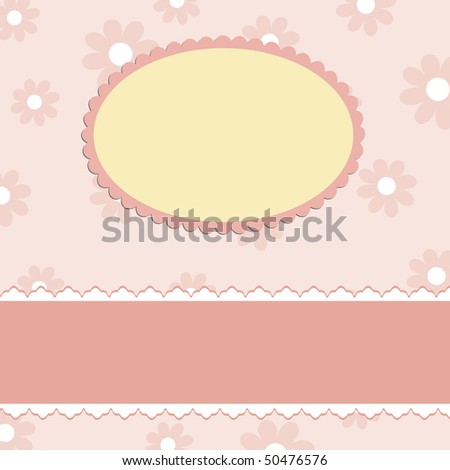 Blank template for greetings card in pink colors (EPS10)