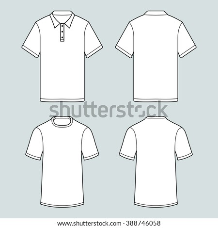 Blank template tshirts polo shirts whith vectores en stock for Order polo shirts with logo