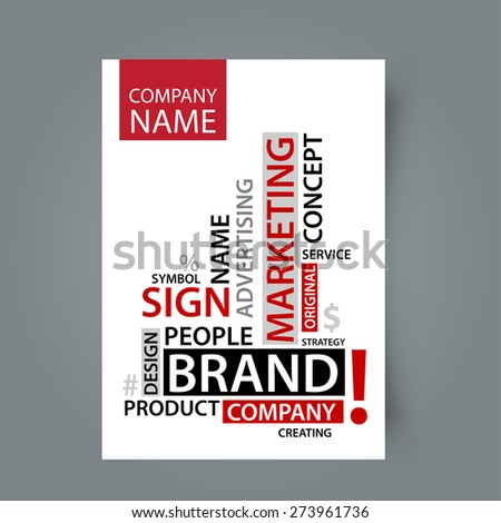 Blank template Word Cloud with branding tags, vector business concept - stock vector