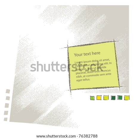 Blank text attractive background texture (simple chalk technique, textured grunge vector) - stock vector