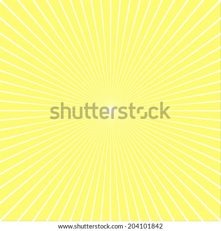 Blank Text Speed - White Lines graphic effects for comic on yellow background - stock vector