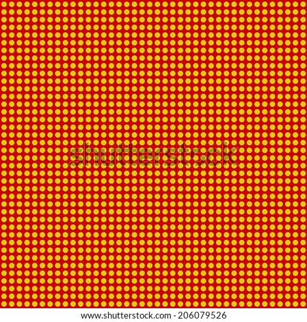 Blank Text - Yellow dot for comic on red background vector - stock vector