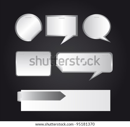 blank thought bubble over gray background. vector illustration - stock vector