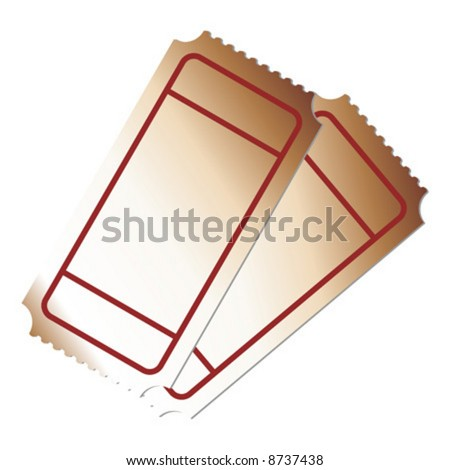 Blank tickets on top of each other - stock vector