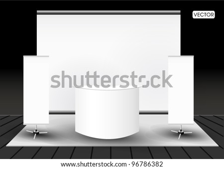 Blank trade exhibition stand booth - stock vector